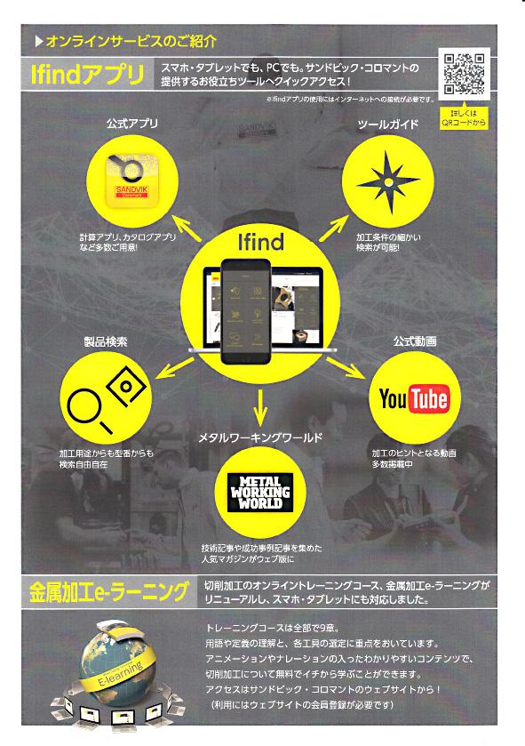 サンドビック(株)コロマントカンパニー オンラインサービス Ifindアプリのご案内